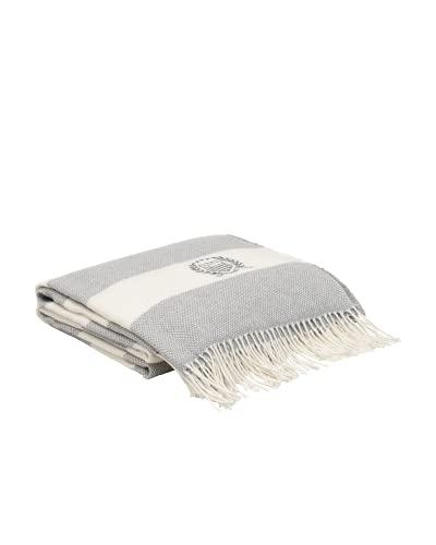 GANT Rugby Stripe Decke Farbe Grau 130x180cm Blockstreifen Stripes
