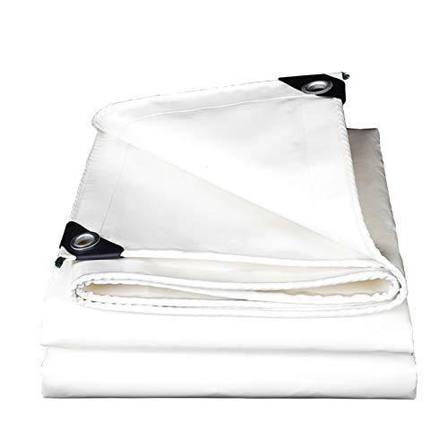 IDWOI dekzeil – hoogwaardig, dubbelzijdig, waterdicht, wit, vuurvast zonnescherm – tentafdekking voor buitenwagens