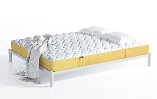 Matratze 200x200 cm Brick | Atmungsaktives Premium Material & 7 Zonen Taschenfederkern | H2 und H3 in Einer Matratze mit Kokoseinlage | 21 cm Hoch