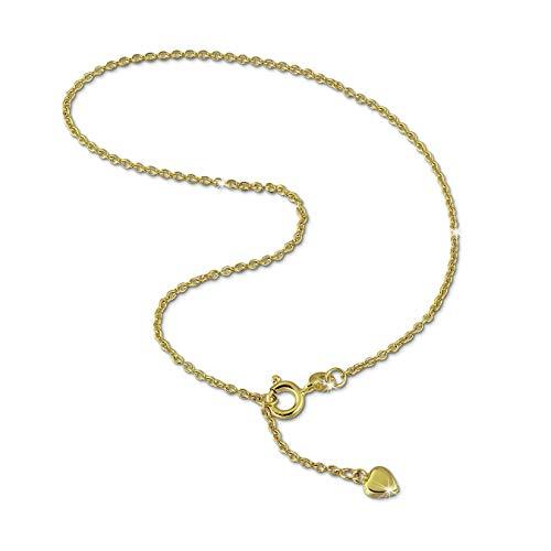 GoldDream 333er Gelbgold Fußkette Herz Damen-Schmuck 25cm gold D2GDF0055Y Goldschmuck von Gold Dream