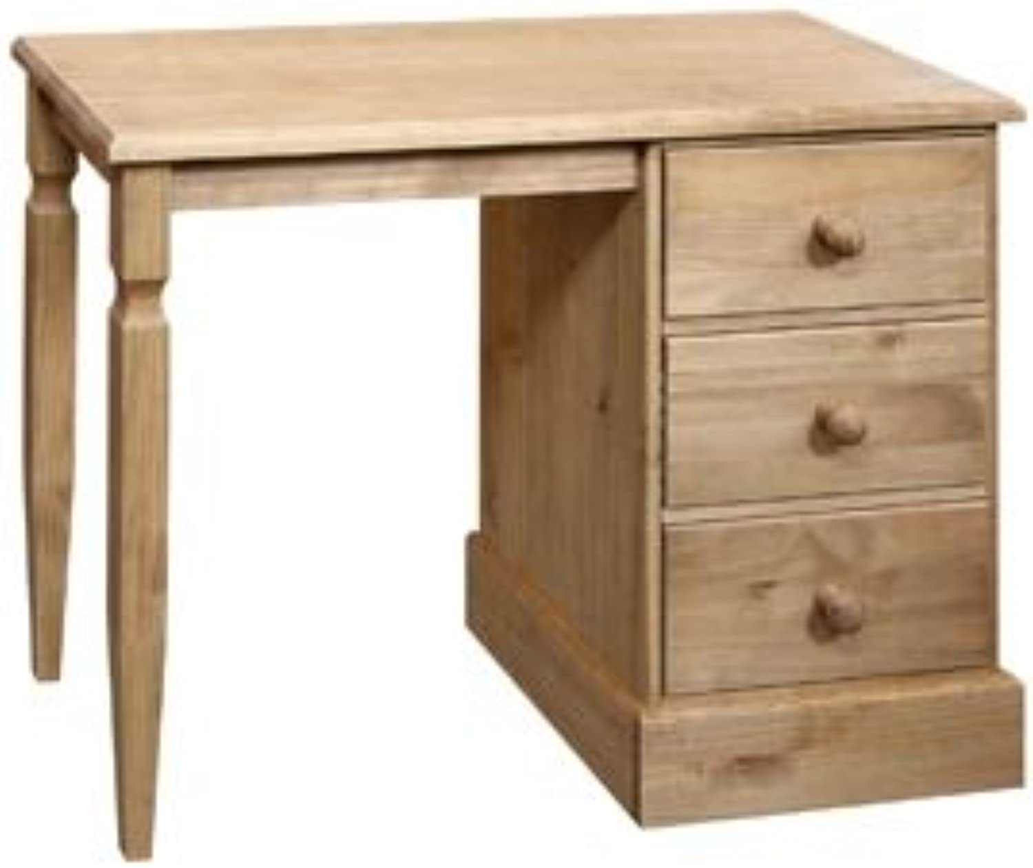 Classic Cotswold single pedestal 3 drawer dressing table desk solid wood pine