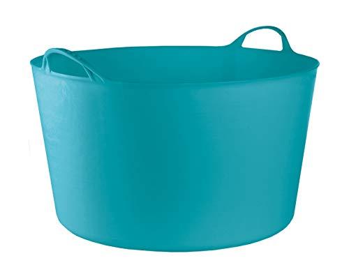 RED HOG Container Bucket Basket Flexible Flexi Multifunzionale, Stabile, Giardino, Garage, Alimentazione degli Animali, Stoccaggio, Portare, Annaffiare, Forza 120 kg, 55x35x44,5cm 55L Turchese