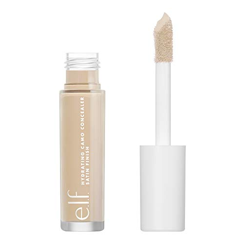 e.l.f., Hydrating Camo Concealer, Lightweight, Full Coverage, Long Lasting, Conceals, Corrects, Covers, Hydrates, Highlights, Light Sand, Satin Finish, 25 Shades, All-Day Wear, 0.20 Fl Oz