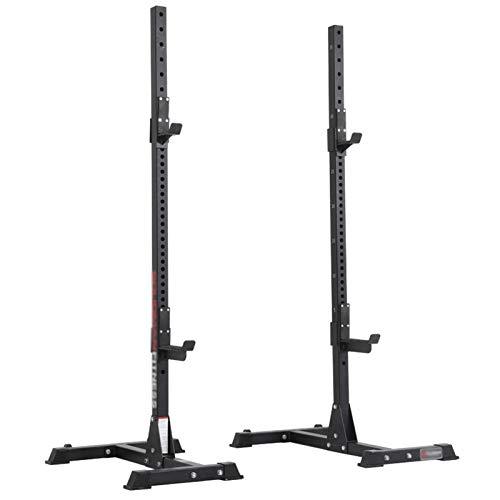 NENGGE Heavy Duty Squat Rack Multifunction Barbell Rack Bench Press Sturdy Squat Stand and Dips Fitness Equipment for Indoor Home Gym Strength Training Support Rack, 200kg Max Load