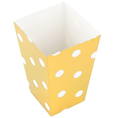 Bolsa de palomitas de maíz, caja de palomitas de papel duradera para adultos para fiestas temáticas de películas(Bronzing Polka Dot Popcorn Box)