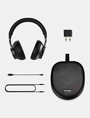 Mixcder E10 Auriculares Diadema Bluetooth 5.0 con Cancelacón Activa de Ruido, Cascos Inalámbricos Bluetooth con Micrófono, Hi-Fi Sonido Estéreo, Carga Rápida, 30 Horas de Juego