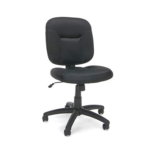 OFM Essentials Collection Armless Task Chair, in Black