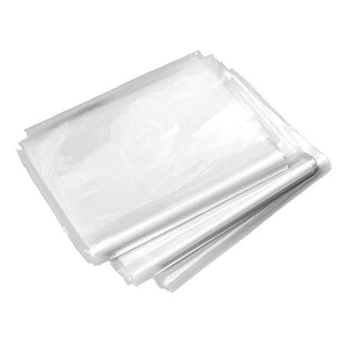 Gebuter 100 Pcs Shrink Wrap Bag, Heat Shrinkable Bag Heat Shrink Film Clear PVC Shrinkable Packaging Wrap Sealing Protector Heat Shrink Wrap Shrink Film Wrap