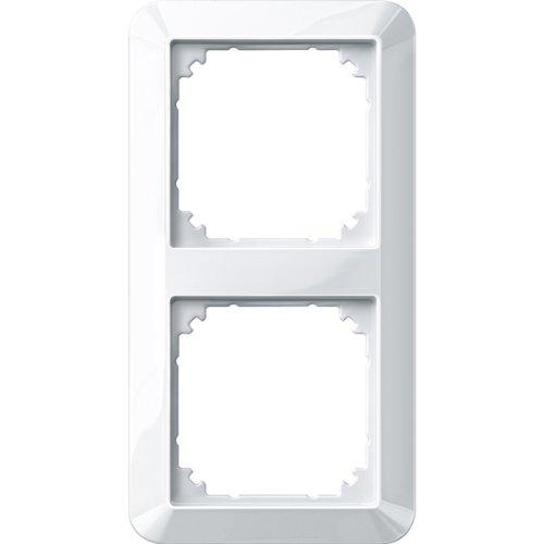 Merten 389219 1-M-Rahmen, 2fach, polarweiß glänzend, 1x 1, 2 Fach