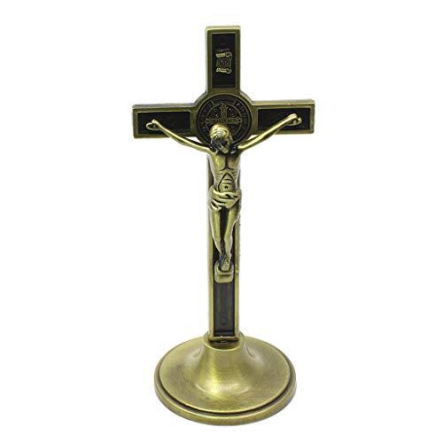 HLLR Kruisbeeld Christus Katholieke Jezus Religieuze Kerk Decoratie Stand Muur Antieke Thuis Kapel Decor