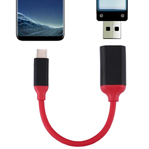 Niza 15 cm aluminiumlegering kop USB C/Type C 3.1 mannelijk naar USB 3.0 vrouwelijke OTG adapterkabel converter voor Galaxy S8 en S8 + / LG G6 / Huawei P10 en P10 Plus/OnePlus 5 / Xiaomi MI6 & Netto
