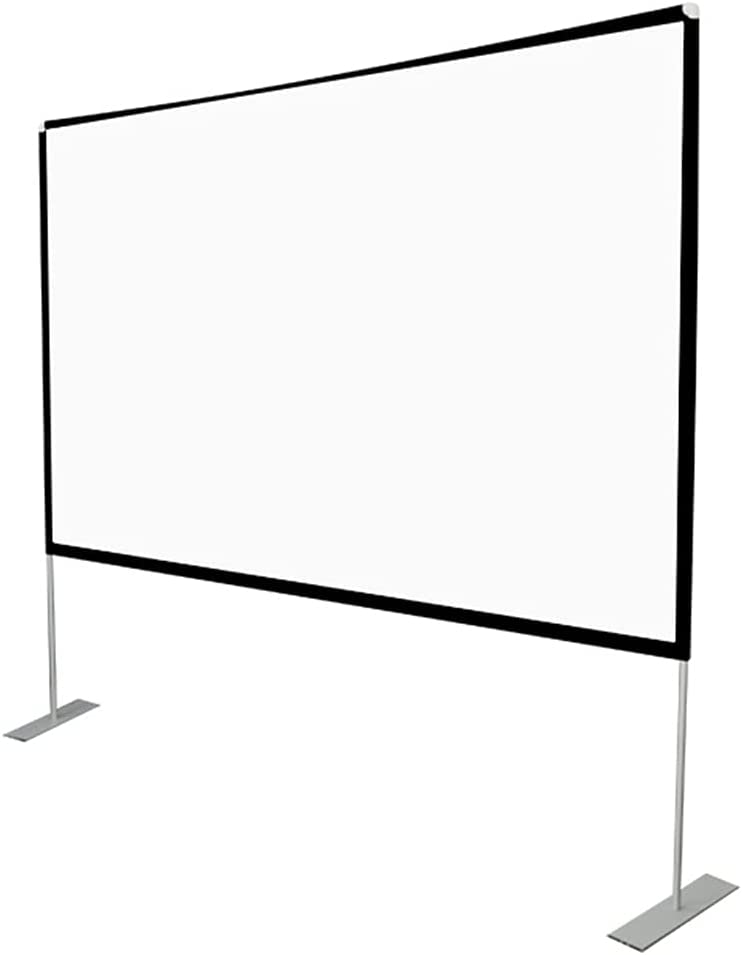 XJMF Projector Screen with Stand 120 inch 16:9 HD 4K Outdoor Theater Backyard Cinema Trave Projection Screen, Fast-Folding Projector Screen with Stand Legs and Carry Bag