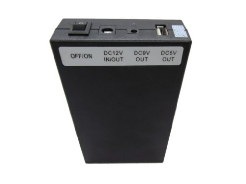 Portable 3-in-1 5v 9v 12v DC Rechargeable Li-Ion Battery