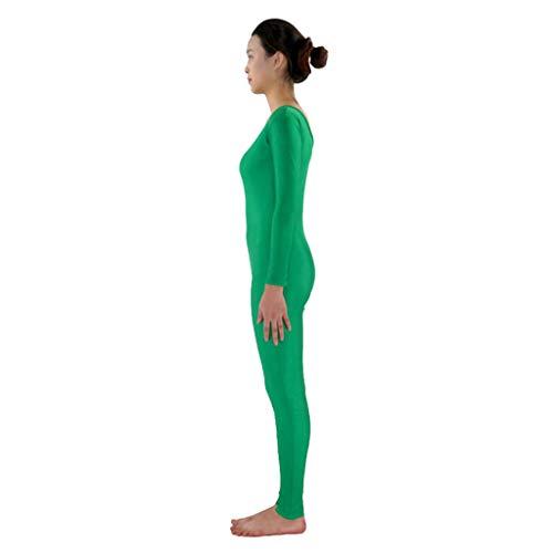 Baoblaze Traje de Danza Mono Spandex Adulto Elegante Sensación Unitard Cuerpo Completo Deporte - Verde, L