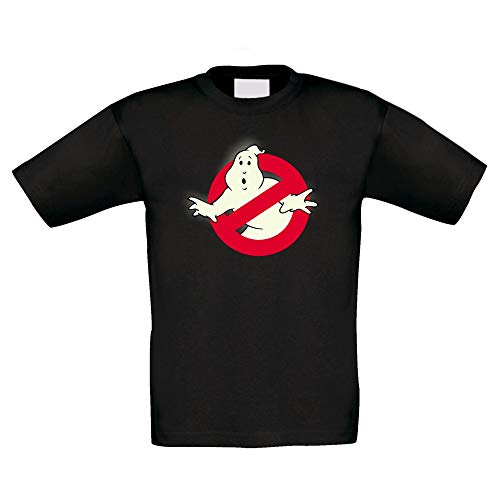 shirtdepartment - Kinder T-Shirt - Glow - Ghost Busters schwarz-Glow 122-128