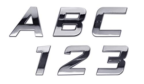 Personalized Set of Chrome Auto Letters and Numbers - Sport Style