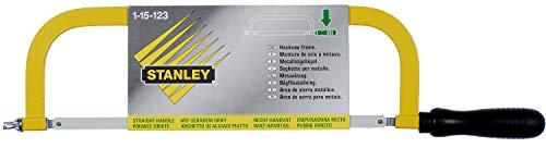 Stanley Metallbügelsäge (mit Holzgriff, 300 mm Klingenlänge, 95 mm Schnittleistung, 24 Zähne/Inch, Flügelmutter) 1-15-123