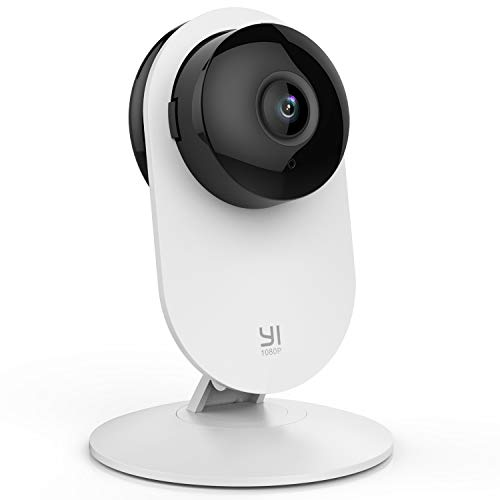 YI Home Camera 1080p ,Telecamera Wi-Fi Interno Compatibile con Alexa ,Telecamera IP per Bambini con Sensore Rilevamento Movimento,Notifiche Push in Tempo Reale,Audio Bidirezionale,Visione Notturna