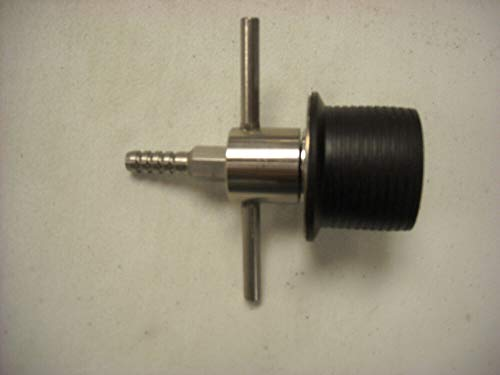 Stainless Steel T-Handle Expansion Plug with Bypass, Compatible with Pipe ID 1.55