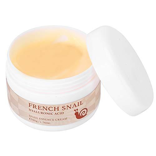 Feuchtigkeitscreme, Gesicht Schnecken Creme mit Hyaluronsäure zur Feuchtigkeitsspendenden Hauterneuerung gegen Falten, 50g
