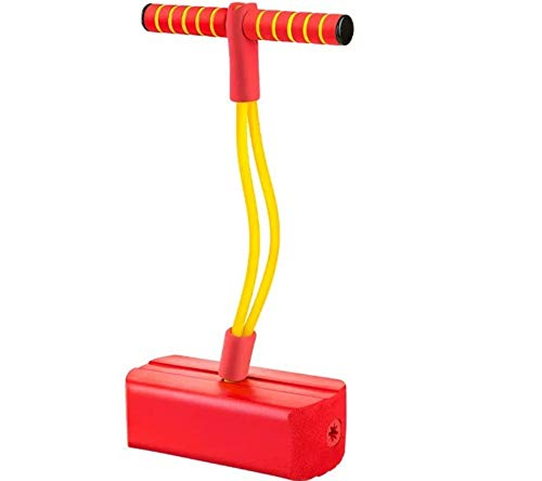 Pogo Stick Puente de espuma divertido y seguro para niños al aire libre, juguete de espuma para niños a partir de 3 años, sonidos chirriantes, Pogo Sticks soporta hasta 250 libras (rojo)