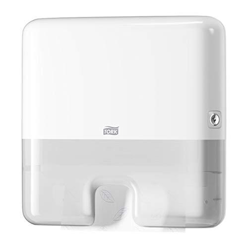 Tork Xpress Mini distributeur pour Essuie-mains interfoliés - 552100 - Elevation Design - Petit Distributeur H2 pour papier d'essuyage, feuille à feuille, blanc