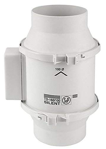Soler&Palau TD 160 SILENT SERIE Rohrventilator 160m³/h , 100mm Anschluss / Rohrlüfter