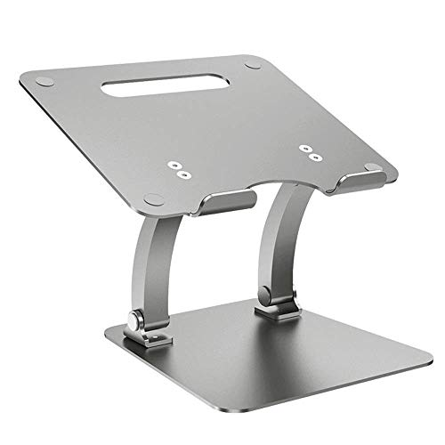 LQRYJDZ Notebook Stand Laptop Cooling pad Travel Folding Notebook Stand Tablet Desktop Stand Adjustable Laptop Stand Laptop Stand Laptop Fan (Color : Gray)
