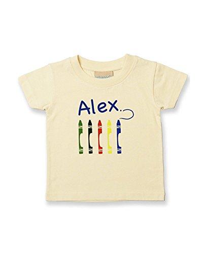 Ice-Tees T-shirt personnalisable en coton doux pour enfant/bébé garçon - Jaune - 2-3 ans