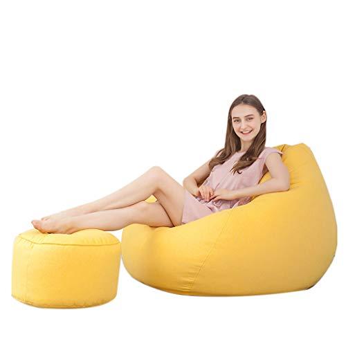SD Bean Bag Chaise/canapé/Grand Fauteuil Poire/Grande Fauteuil/avec Repose-Pieds/Couleur Multiple/avec Mousse Ultra Confortable/pour Enfants et Adultes