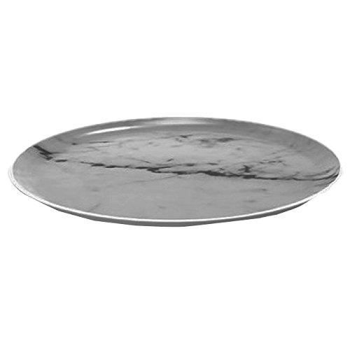 Zak! designs 1303-170 Osmos Assiette, marbre/Blanc