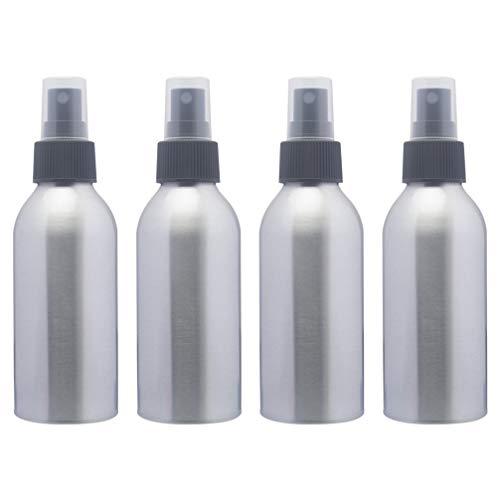 PIXNOR 4 stuks aluminium nevelspuitflessen 250 ml metalen verstuiverflessen navulbare lege zeep vloeistofdispenserhouder voor op reis Tattoo accessoires