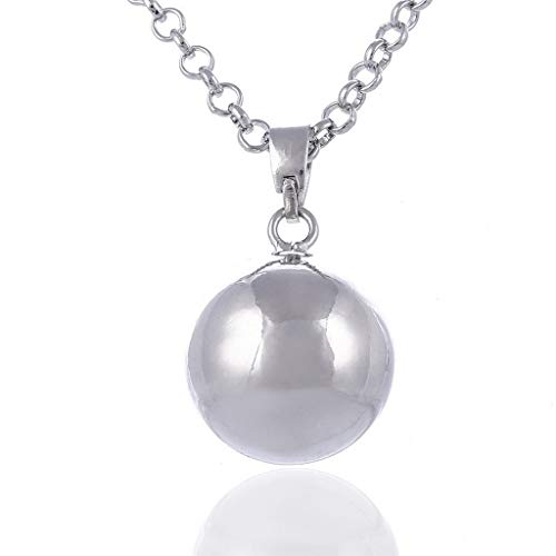 zrshygs Harmony Ball Necklace Brilliant Pregnancy Vintage Chime Bola Pendant 40' Long Chain Necklace for Mother Bady Jewelry