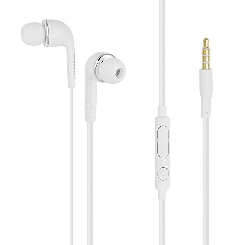 Original Samsung Headset EO- EG900BW in Weiss für SM-G900F Galaxy S5 InEar In-Ear Kopfhörer Ohrhörer Ohrstöpsel 3,5mm Stecker Stereo Sound Bulk verpackt