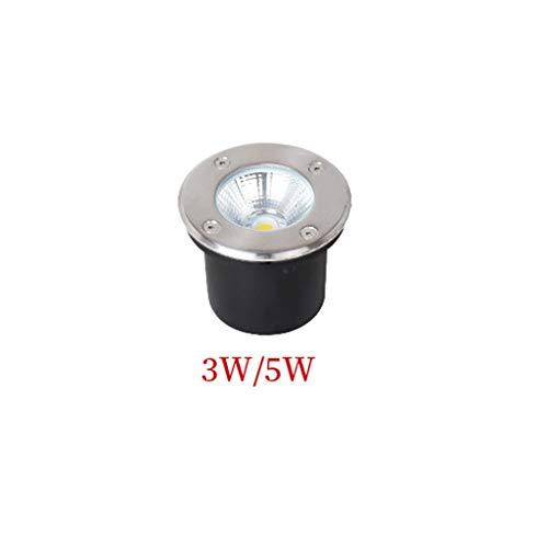 Spot Encastrable Exterieur,Lumière Souterraine Intégré LED De Plein Air Imperméable IP65 Carré Inoxydable Acier Lampadaire Rondelle De Mur (Couleur : Positive white light-3W)