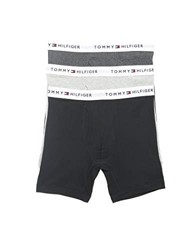 Tommy Hilfiger 3er Pack Classic Cotton Boxershorts Unterwäsche Grey Heather 09TE001