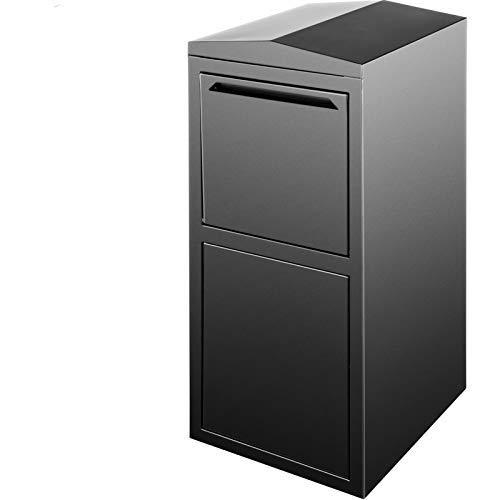 Happybuy 38.2x17.7x16.5 inch Extra Large Mailbox, Black