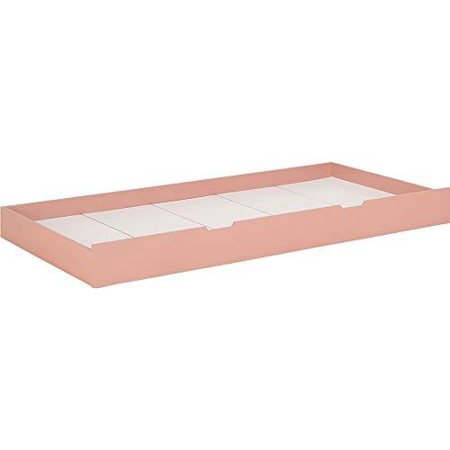Meubletmoi 7406 - Cajón para cama infantil, color rosa