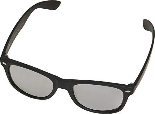 Urban Classics Sonnenbrille Sunglasses Likoma Mirror with Chain Lunettes de Soleil, Black/Silver, Taille Unique Mixte Enfant