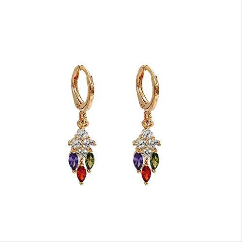 Pendientes de aro de oro pequeño mini pendientes de cartílago de cristal mariposa para mujeres moda pendientes joyería regalos