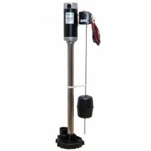 Zoeller 585-0005 Aquanot II Battery Backup Pedestal Sump Pump System with Electronic Charger