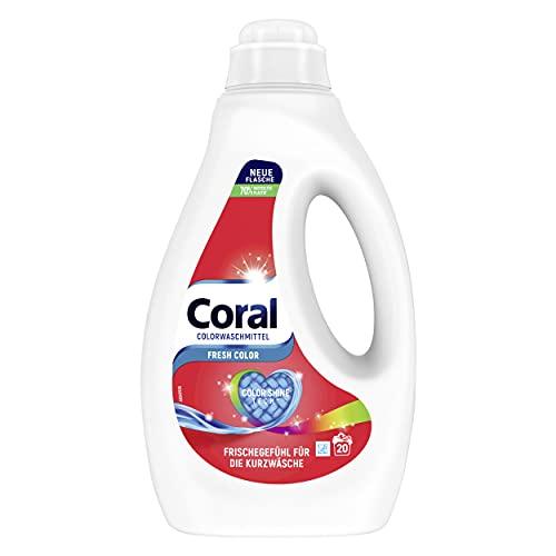 Coral Dufterlebnis Colorwaschmittel FRESH Color mit Color-Shine-Tech-Formel 20 WL (1 x 1L)