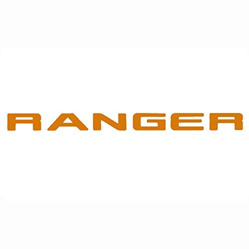 Ranger Gitter Oben Logo Brief 3D Emblem Originalgröße ABS Aufkleber Chrom Styling mit Klebstoff, Orange