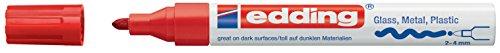 Edding 4-750-9-002 Glanz-Lack-Marker, Breite Rundspitze rot