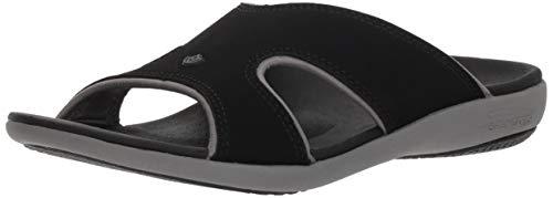 Spenco Women Kholo Plus Slide Sandal, Onyx, 10 Medium US