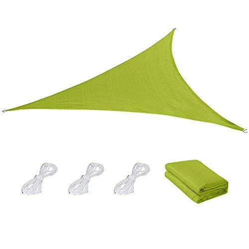 Winkey Outdoor Oxford Stoff Schatten Segel Netz wasserdicht und Anti-Ultraviolett Anti-Aging gleichseitigen Dreieck (Grün S)
