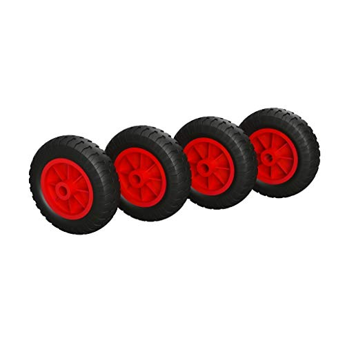 TITAPS 4 x PU Rad Ø 160 mm Gleitlager, Kompressor, Rolle, Sliprolle, PANNENSICHER, schwarz/rot