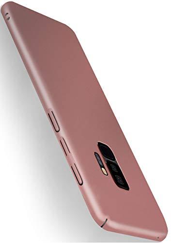 moex Alpha Case für Samsung Galaxy S9 Plus Hülle Stoßfest und Leicht Handyhülle Extra Dünn, Super Slim Schutzhülle Ultra Air Hybrid PC Hardcase aus Kunststoff - Rosegold