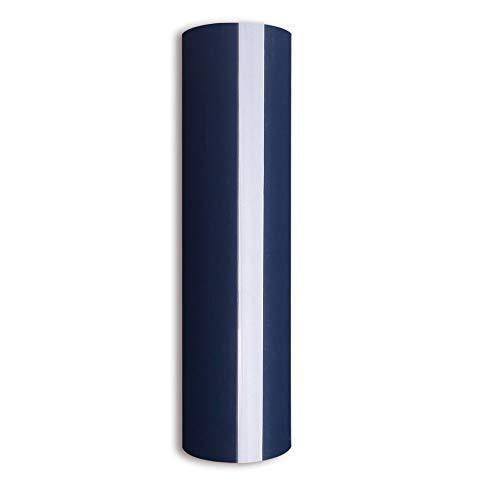 Navy Blue Heat Transfer Vinyl?PU HTV Heat Transfer Iron on Vinyl for DIY T-Shirts and Fabrics 0.8x5FT