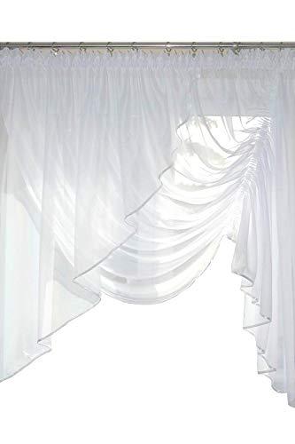 FKL kant-en-klaar gordijn raamgordijn van voile schuine links mooi gordijn AG8 modern